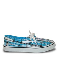 Women's Kaymann Boat Shoes - Turquoise Plaid (Special Offer)