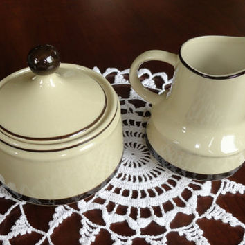 Stoneware Creamer and Sugar Set Japan SR