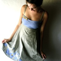 Periwinkle Linen Dress by larimeloom on Etsy