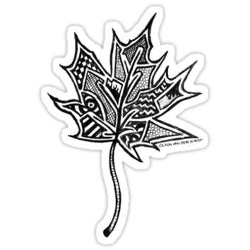 'Maple Leaf Graffiti ' Sticker by Noble Bison