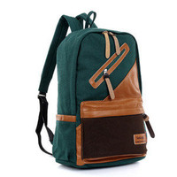 new fashion canvas leisure shoulder bag backpack student bookbag lover bag C0052
