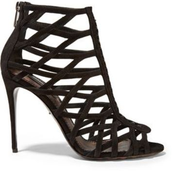 Keira cutout suede sandals | DOLCE & GABBANA | Sale up to 70% off | THE OUTNET