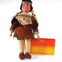 "Lily Cairne 1995 16"" Collectible Memories Native American Porcelain Doll COA"