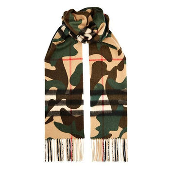 Camo Pattern Scarf by Burberry