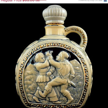 On Sale Vintage, Japanese, Musical Decanter,  Blue Musical Jug with Stopper, Plays Fascination Waltz Melody