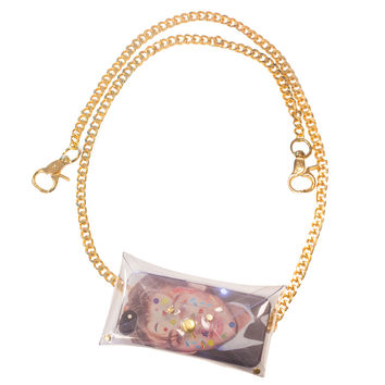 Clear Vinyl Chain Purse