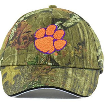 Clemson Tigers New NCAA Cam Slam Mossy Oak Camo Adjustable Fit Hat Cap - One Size Fits All