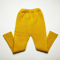 Soviet vintage toddler knitted woven loomed handmade pants trousers warm underwear pantyhose wool winter spring 2 3 4 yrs
