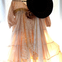 Retro 70's Stevie Nicks style smock dress, Boho Dresses