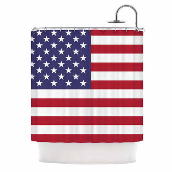 "Bruce Stanfield ""Flag of USA"" Contemporary Digital Shower Curtain"
