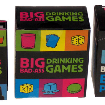 Lot of 3 Big Bad Ass Beer Pong Drinking Games Bar Tricks Mega Mini Kits Gag Gift