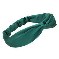 Knottede Headband In Green