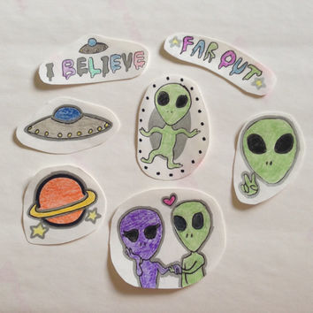Alien Stickers