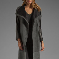 Mason by Michelle Mason Dual Tone Coat in Charcoal/Grey from REVOLVEclothing.com