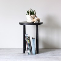 black wooden stool by AMradio on Etsy