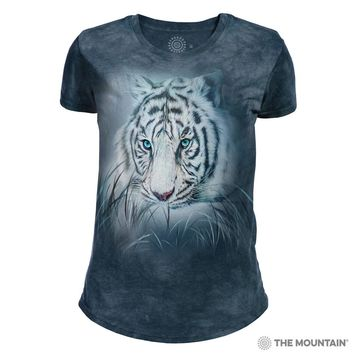 Thoughtful White Tiger Women's Tri-Blend