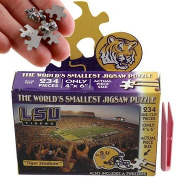 NCAA LSU Fightin Tigers Worlds Smallest Puzzle