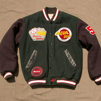 POWERS Vintage Leather and Wool Australian Varsity Jacket - Men's S