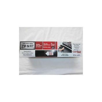 """Con Tact Tool Box Drawer Liner - Protec Zip-N-Fit No Scissors Needed 12"""" X 6'"""