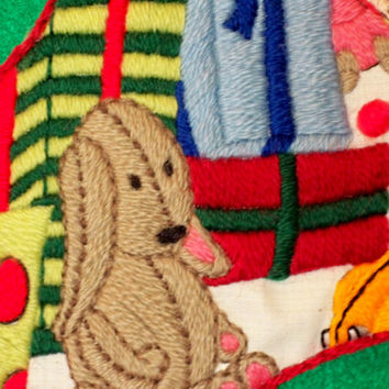 Crewel Embroidery Christmas Stocking Kit - Whimsical Presents