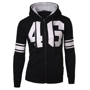 Men Hats Hoodies 3D Hollow Out Alphabet Print Jacket [6528749507]