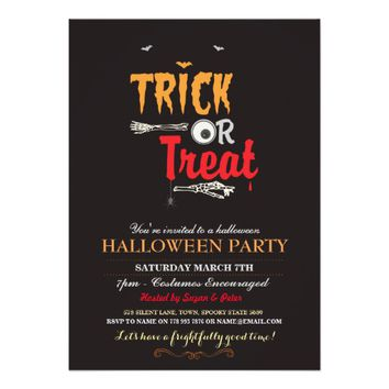 Halloween Party Trick Or Treat Scary Invite