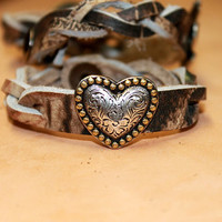 Braided Camo with Heart