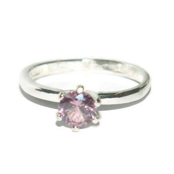 Alexandrite Ring, Sterling Silver, 1/2 Carat Stone
