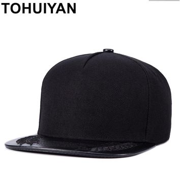 Trendy Winter Jacket TOHUIYAN Mens Black Snapback Caps Street Dancing Hip Hop Caps Brand Flat Brim Casquette Baseball Caps Cool Sun Hats For Women AT_92_12