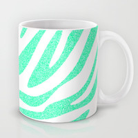 Mint Zebra Mug by M Studio