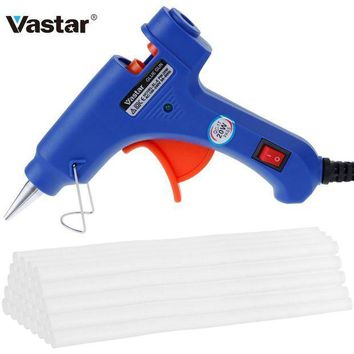 CREYLD1 Vastar Hot Melt Glue Gun with 30pc 7mm*200mm Glue Stick Industrial Mini Guns Thermo Electric Heat Temperature Tool