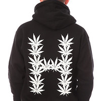 HUF The Leaves Zip Hoody in Black : Karmaloop.com - Global Concrete Culture