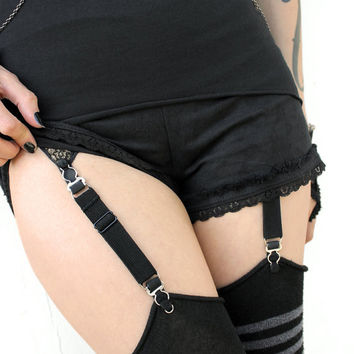 LINGERIE GARTER CLIPS for stockings, and tall socks