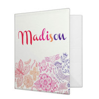 Rainbow Sketch Personalized Binder