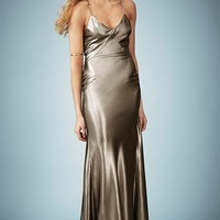 Kate Moss for Topshop Lame Bias Cut Maxi Dress (Online Only)
