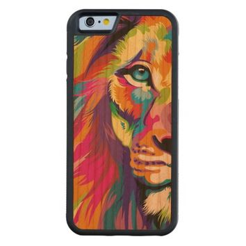 Colorful Lion Carved® Cherry iPhone 6 Bumper Case