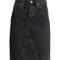 Knee-length Denim Skirt - from H&M