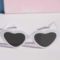 White Cheryl Heart Sunglasses by Betty & Veronica