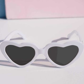 White Cheryl Heart Sunglasses by Betty & Veronica - PRE-ORDER, SHIPS LATE JUNE