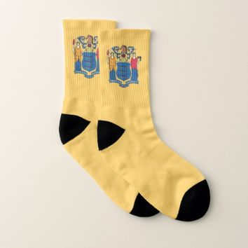 All Over Print Socks with Flag of New Jersey