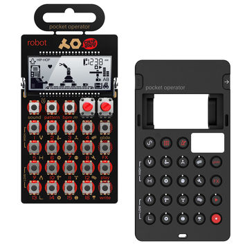 Teenage Engineering: PO-28 Robot Pocket Operator + Silicone Case Bundle