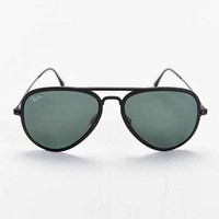 Ray-Ban Light Ray Matte Black Aviator Sunglasses- Black One