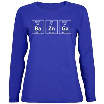 ESBGQ9 Bazinga Periodic Table Womens Long Sleeve T Shirt