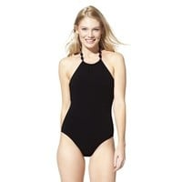 ASSETS® By Sara Blakely A Spanx® Brand Women's 1-Piece Swimsuit -Black