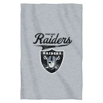 "Oakland Raiders 54""""x84""""Sweatshirt Blanket - Script Design"