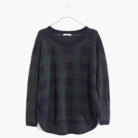 Dark Plaid Pullover Sweater