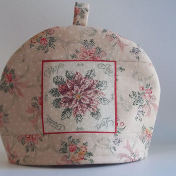 Christmas Poinsettia Teapot Cozy