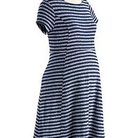 Maternity Striped Textured-Knit Dresses