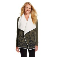 Faux Sherpa Cardigan Olive - Mossimo Supply Co.