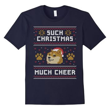 Shiba Inu Dog T-Shirt - Such Christmas Much Cheer Gift